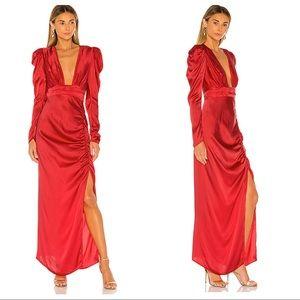 REVOLVE Rococo Sand Poppy Deep V Gown